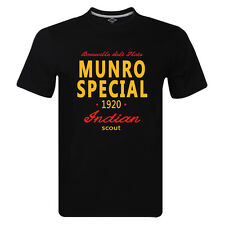 Burt Munro Shirt Indian Scout Bonneville Salt Flats 1920 Retro T-shirt New Fit