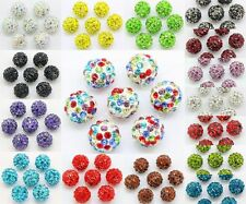 20pcs 10mm Czech Crystal Rhinestones Pave Clay Round Disco Ball Spacer Bead DIY