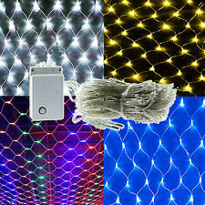 LED Net Fairy Light Christmas Wedding Party Xmas Garden Indoor Outdoor Lamp Deco