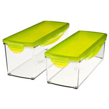Nicer Dicer Plus: Storage Containers with Locking Stay-fresh Lids (Set of 2)