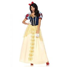Snow White Disney Deluxe Princess Long Fancy Dress Party Gown Costume + Hairbow