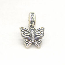Genuine Authentic S925 Sterling Silver Love Takes Flight Clear Cz Dangle Charm