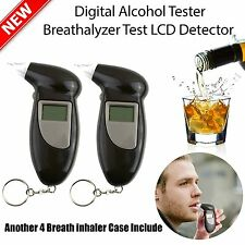 2X LCD DIGITAL POLICE ALCOHOL BREATH TESTER ANAL BREATHALIZER BREATHALYZER~HL