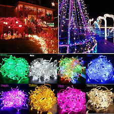 100/200 LED String Fairy Lights Bulb Christmas Xmas Party Tree Home Garden Decor
