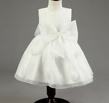 Girl Kid Wedding Princess Party Pageant Flower Big Bows Formal Tutu Dress Gown
