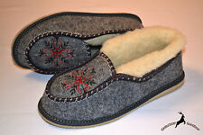 Womens Ladies Comfortable House Ankle Length Shoes Boot Slipper Warm Gray Wool