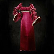 Medieval Styled Wine Red Satin Dress. Perfect for Re-enactment, Stage or LARP