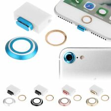 Camera Lens Cover, Home Button Ring, Charging Anti Dust Plug For iPhone 7/7 Plus