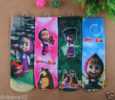 Lot Masha & The Bear Kids Socks 3 Size Cotton Warm winter Knee-Highs socks C485
