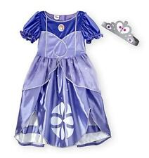 Disney Girl Toddler SOFIA the FIRST costume dress up Size 2T 3T 4/5T Gown Purple