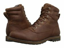 Men's Timberland Chestnut Ridge Waterproof Plain-Toe Boots Brown Leather A185V