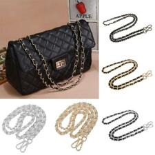 Metal + Leather Shoulder Bag Chain Strap Handle Purse Handbag Chain Replacement