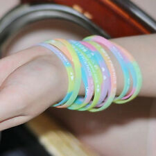 New Charm GLOW IN THE DARK Luminous Silicone Rubber Wristband Fashion Bracelet
