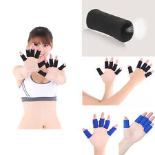 10 Black & Blue Finger Bands Brace Support Sleeve Sports Volleyball Basketball