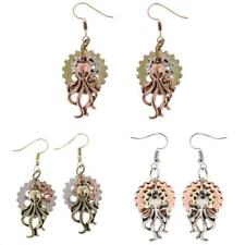 Retro Gothic Steampunk Women Earring Hook Earring Octopus Gear Dangle Jewelry