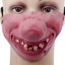 Funny Horrible Scary Comedy Mask Party Clown Latex Mask Cosplay Half Face Mask