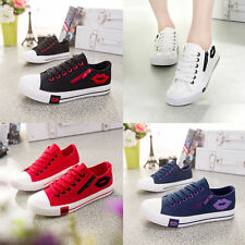 Fashion Women Lady Sneakers Casual Lace Up Low High Top Canvas Shoes Trainers