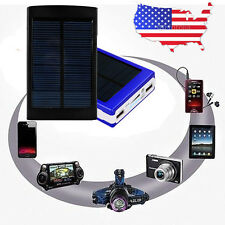 12000mAh Dual USB Portable Solar Battery Charger Power Bank For iphone 7 6S 5S