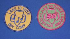 LAKE AND RIVER DAY CAMP / 50 SERVICE AWARDS CLOTH PATCHES BOY SCOUTS   FREE SHIP
