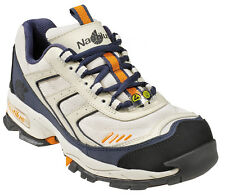 Nautilus Womens Steel Toe Athletic W Cream Leather Shoes