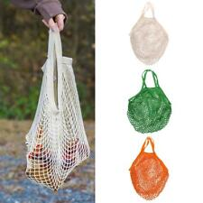 Cotton String Net Shopping Reusable Bag Fruit Storage Grocery Handbags Large
