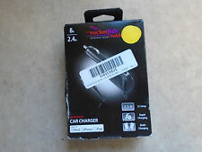 Rocketfish Premium Vehicle Charger for iPod and iPhone RF-PA455 NEW OPEN BOX