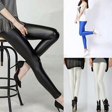 Women Sexy Stretchy Pants Tight High Waisted Leggings Skinny Slim Trousers
