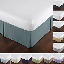 Solid Microfiber Bed Skirt 15-inch Drop Dust Ruffle Bedding Accessories Bedskirt