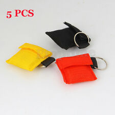 5xCPR Rescue Mask Resuscitator Keychain Key Ring Emergency First Aid Face Shield