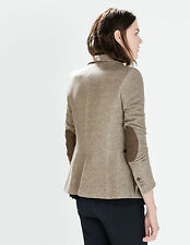 Size M - ZARA 2015 BLAZER WITH ELBOW PATCHES LIGHT WEIGHT COAT JACKET OUTERWEAR