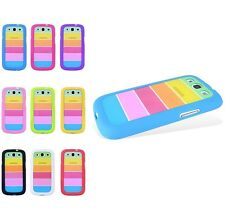 Rainbow Bumper Hard Skin Back Case Cover For Samsung Galaxy S3 SIII I9300 I9305
