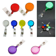 Retractable Ski Pass ID Card Badge Holder Key Chain Reels With Clip Orange