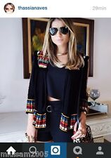 ZARA EMBROIDERED JACKET BLACK Ref. 0881/211 S BLOGGERS FAVORITE