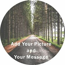 """Any message Any Picture Edible Cake Topper printed on Icing or Rice paper 7,5"""""""
