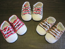 Baby Girl Toddler Canvas ZEBRA Print CRIB SHOES SNEAKERS Soft Sole PINK BROWN