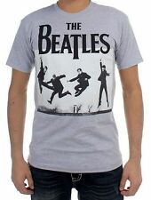 The Beatles Iconic Jump Heather Grey T-Shirt S-2XL Tee Licensed Rock Band New