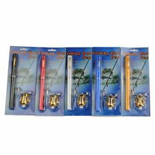 Mini Fishing Fish Tackle Pocket Pen Kit Rod Pole And Reel Combos Wheel Reel Tool