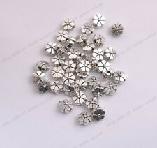 50/100PCS Tibetan Silver flower Shape Loose Spacer Bead Jewelry Making DIY A3089
