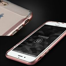 Hybird Baseus Slim Hard Bumper + Soft Clear Back Case Cover For iPhone 7/7 Plus