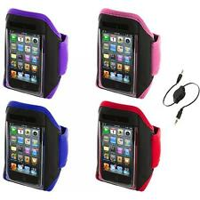Gym Sports Armband Case Cover+Aux Cable for iPod Touch 4th 3rd 2nd Gen 4G 3G