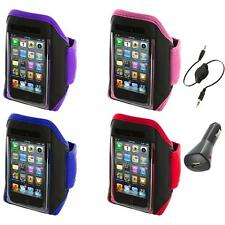 Gym Sports Armband Case Cover+Aux+Charger for iPod Touch 4th 3rd 2nd Gen 4G 3G