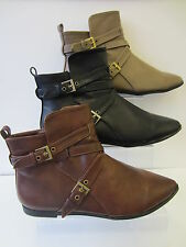 Ladies Brown/Black/Taupe Spot On Ankle Boots UK Sizes 3 - 8 F4364