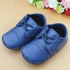 Infants Baby Kids Prewalker PU Leather Shoes Boy Girl Soft Sole Crib Shoes 0-12M