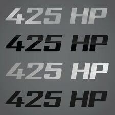425 HP Decal Graphic Fits Dodge Challenger, Chevrolet Corvette, Chevy Camaro