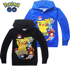 POKEMON GO PIKACHU Girls Boys Hoodies Sweatshirt Kids Clothes Coat Outwear Tops