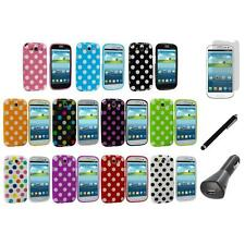 TPU Polka Dot Cover Case+LCD+Charger+Pen for Samsung Galaxy S3 S III i9300