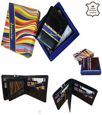 MENS REAL SOFT QUALITY LEATHER WALLET PURSE CARD HOLDER IN GIFT BOX GENTS 2002