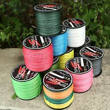 1 Spool 300M/500M/1000M Fishing Line Super Strong Dyneema PE Braided 4 Strands
