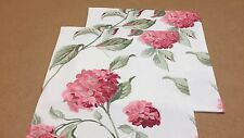 TWO LAURA ASHLEY HANDMADE CUSHION COVERS IN HYDRANGEA CRANBERRY