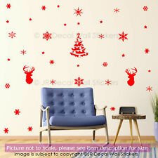 65 Snowflakes Xmas Vinyl Wall Art Sticker Christmas Shop Window Decor Wall Decal